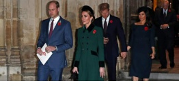 Los príncipes Harry y Guillermo se separan en plena tensión entre Meghan y Kate